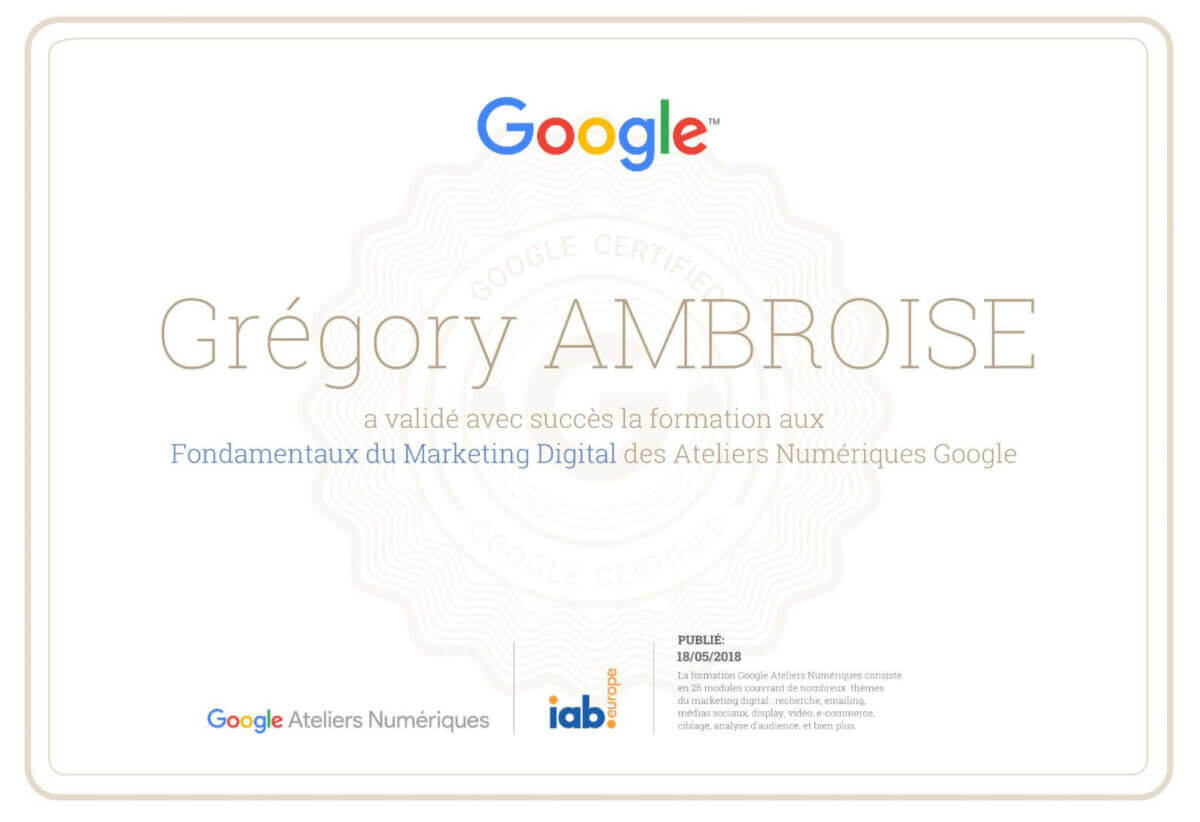 Gregory-Ambroise-Consultant-SEO-Nancy-Lorraine-Certification-Google-Marketing-Digital