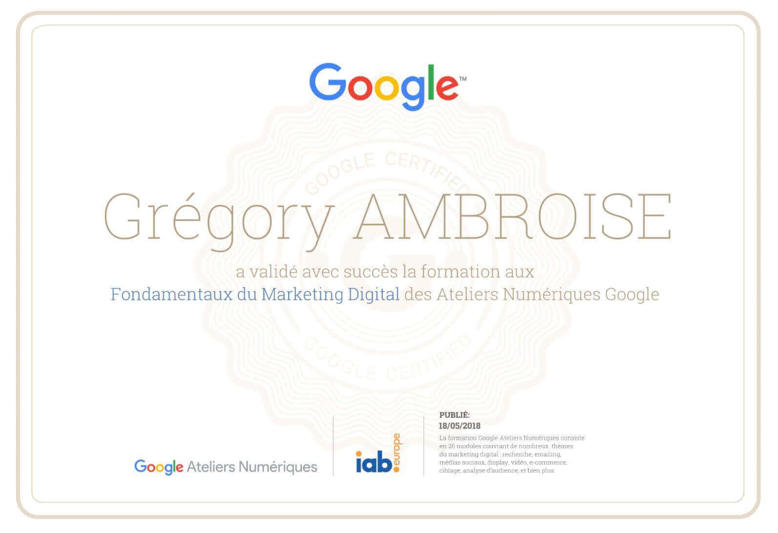 formation gratuite avec google ateliers num u00e9riques